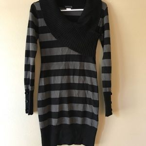 Black and Gray Sweater Dress from Venus